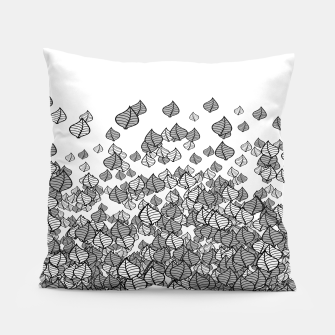Leaf Blower B&W Pillow thumbnail image