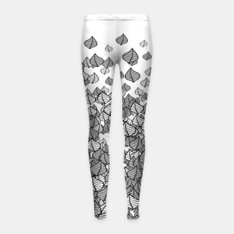 Leaf Blower B&W Girl's Leggings thumbnail image