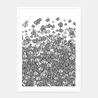 Leaf Blower B&W Framed poster thumbnail image