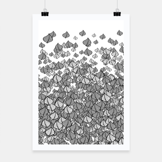 Thumbnail image of Leaf Blower B&W Poster, Live Heroes