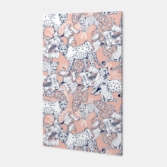 Thumbnail image of Leopards in the pink jungle Canvas, Live Heroes