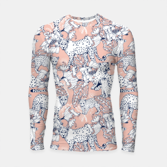 Thumbnail image of Leopards in the pink jungle Longsleeve Rashguard, Live Heroes