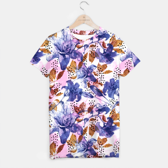 Thumbnail image of Abstract floral tropical nature Camiseta, Live Heroes