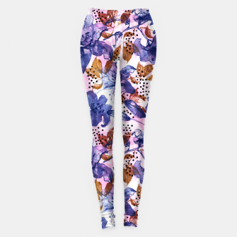 Thumbnail image of Abstract floral tropical nature Leggings, Live Heroes