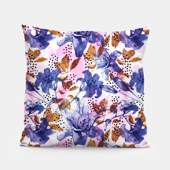 Thumbnail image of Abstract floral tropical nature Almohada, Live Heroes