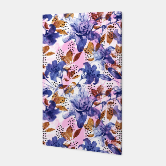 Thumbnail image of Abstract floral tropical nature Canvas, Live Heroes