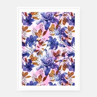 Thumbnail image of Abstract floral tropical nature Cartel con marco, Live Heroes