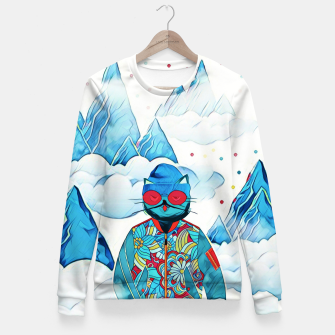 Thumbnail image of Kitty in the sky Fitted Waist Sweater, Live Heroes