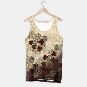 Thumbnail image of Japanese style Butterfly and traditional emblem decoration. Tank Top, Live Heroes