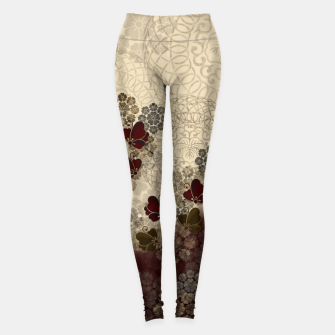 Thumbnail image of Japanese style Butterfly and traditional emblem decoration. Leggings, Live Heroes