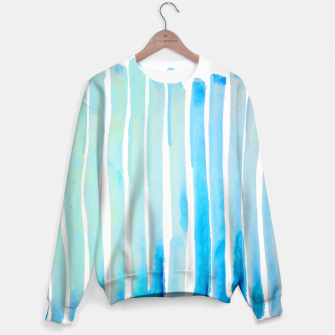 Thumbnail image of New Year Blue Water Lines Sweater, Live Heroes
