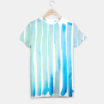 Thumbnail image of New Year Blue Water Lines T-shirt, Live Heroes