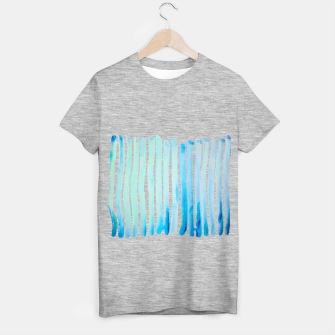Thumbnail image of New Year Blue Water Lines T-shirt regular, Live Heroes