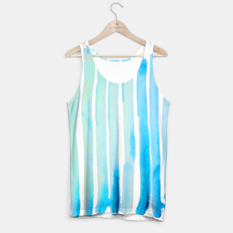 Thumbnail image of New Year Blue Water Lines Tank Top, Live Heroes