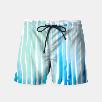 Thumbnail image of New Year Blue Water Lines Swim Shorts, Live Heroes