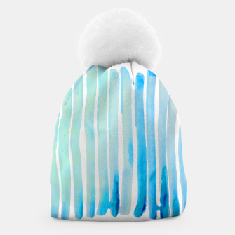 Thumbnail image of New Year Blue Water Lines Beanie, Live Heroes