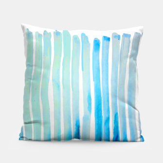 Thumbnail image of New Year Blue Water Lines Pillow, Live Heroes