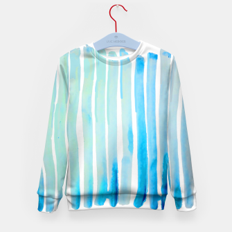Thumbnail image of New Year Blue Water Lines Kid's Sweater, Live Heroes