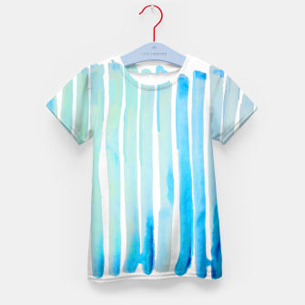 Thumbnail image of New Year Blue Water Lines Kid's T-shirt, Live Heroes