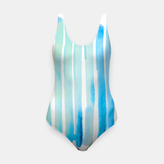 Thumbnail image of New Year Blue Water Lines Swimsuit, Live Heroes