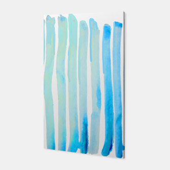 Thumbnail image of New Year Blue Water Lines Canvas, Live Heroes