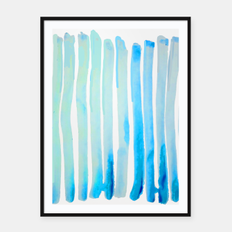 Thumbnail image of New Year Blue Water Lines Framed poster, Live Heroes
