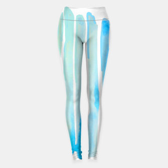 Thumbnail image of New Year Blue Water Lines Leggings, Live Heroes