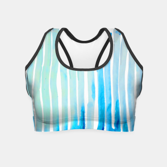Thumbnail image of New Year Blue Water Lines Crop Top, Live Heroes