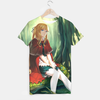 Thumbnail image of Red Riding Hood Anime Beautiful Girl Camiseta, Live Heroes