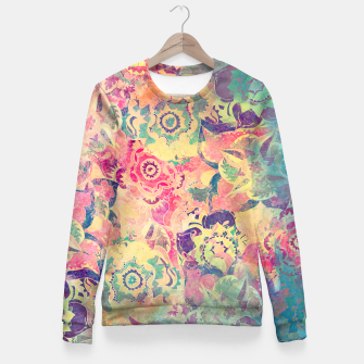 Thumbnail image of Abstract Flowers Fitted Waist Sweater, Live Heroes