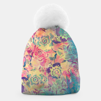 Thumbnail image of Abstract Flowers Beanie, Live Heroes