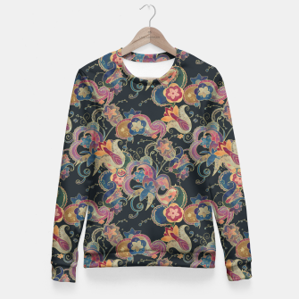 Thumbnail image of Blue Garden Fitted Waist Sweater, Live Heroes