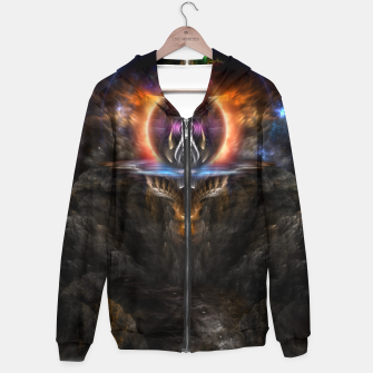Thumbnail image of Trittium 3 Fractal Art Composition Hoodie, Live Heroes