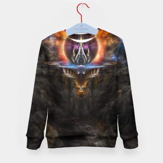 Thumbnail image of Trittium 3 Fractal Art Composition Kid's Sweater, Live Heroes