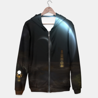 Thumbnail image of Unknown Frontiers Sci-Fi Exploration Zip up hoodie, Live Heroes
