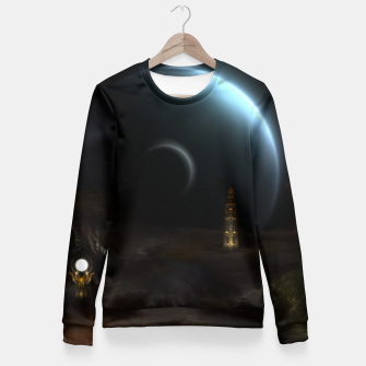 Thumbnail image of Unknown Frontiers Sci-Fi Exploration Fitted Waist Sweater, Live Heroes