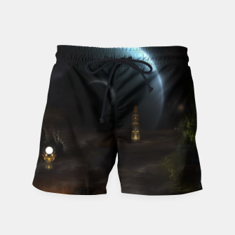 Thumbnail image of Unknown Frontiers Sci-Fi Exploration Swim Shorts, Live Heroes
