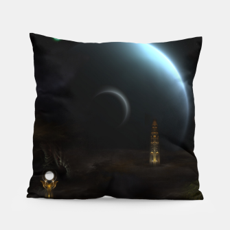 Thumbnail image of Unknown Frontiers Sci-Fi Exploration Pillow, Live Heroes