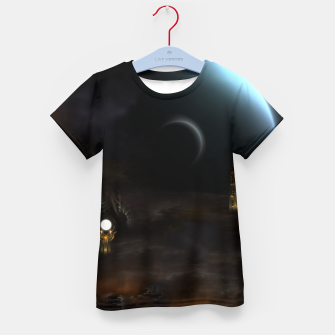 Thumbnail image of Unknown Frontiers Sci-Fi Exploration Kid's t-shirt, Live Heroes