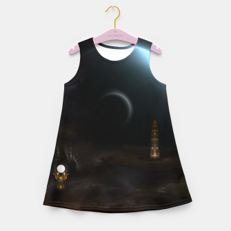 Thumbnail image of Unknown Frontiers Sci-Fi Exploration Girl's Summer Dress, Live Heroes