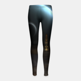 Thumbnail image of Unknown Frontiers Sci-Fi Exploration Girl's Leggings, Live Heroes