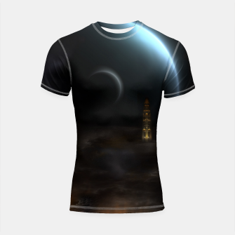 Thumbnail image of Unknown Frontiers Sci-Fi Exploration Shortsleeve rashguard, Live Heroes