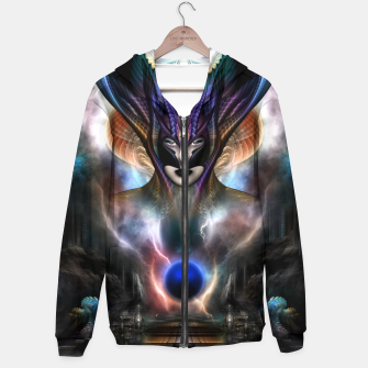 Thumbnail image of Taidushan Sai Spirit Of Power WD Fractal Portrait Hoodie, Live Heroes