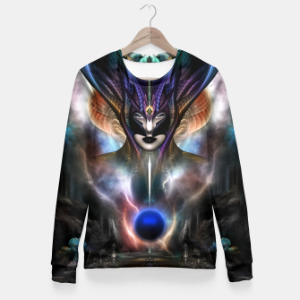 Thumbnail image of Taidushan Sai Spirit Of Power WD Fractal Portrait Fitted Waist Sweater, Live Heroes