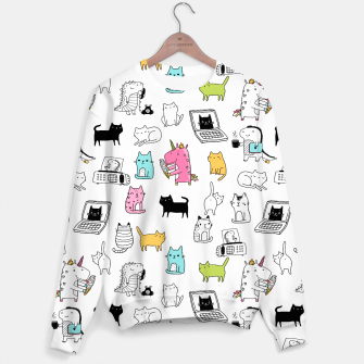 Miniaturka Unicorns Cats Dinos Sweater, Live Heroes
