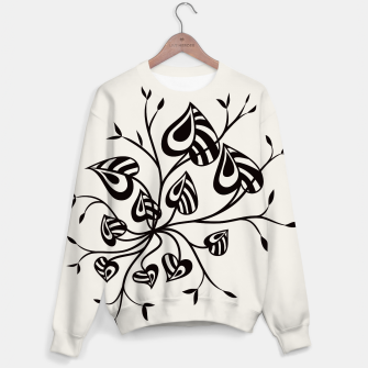 Thumbnail image of Abstract Flower With Pointy Leaves Sweater, Live Heroes