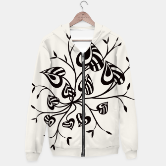Abstract Flower With Pointy Leaves Hoodie thumbnail image