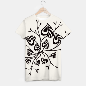 Abstract Flower With Pointy Leaves T-shirt thumbnail image