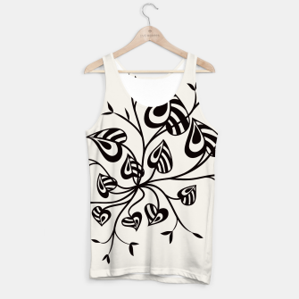 Abstract Flower With Pointy Leaves Tank Top thumbnail image