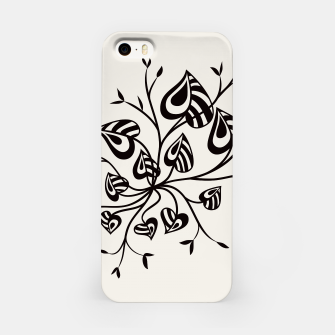 Abstract Flower With Pointy Leaves iPhone Case thumbnail image